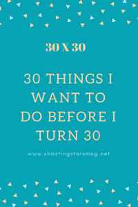 30 X 30 Bucket List