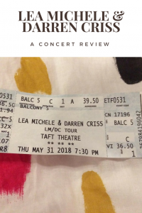Lea Michel and Darren Criss Concert Review