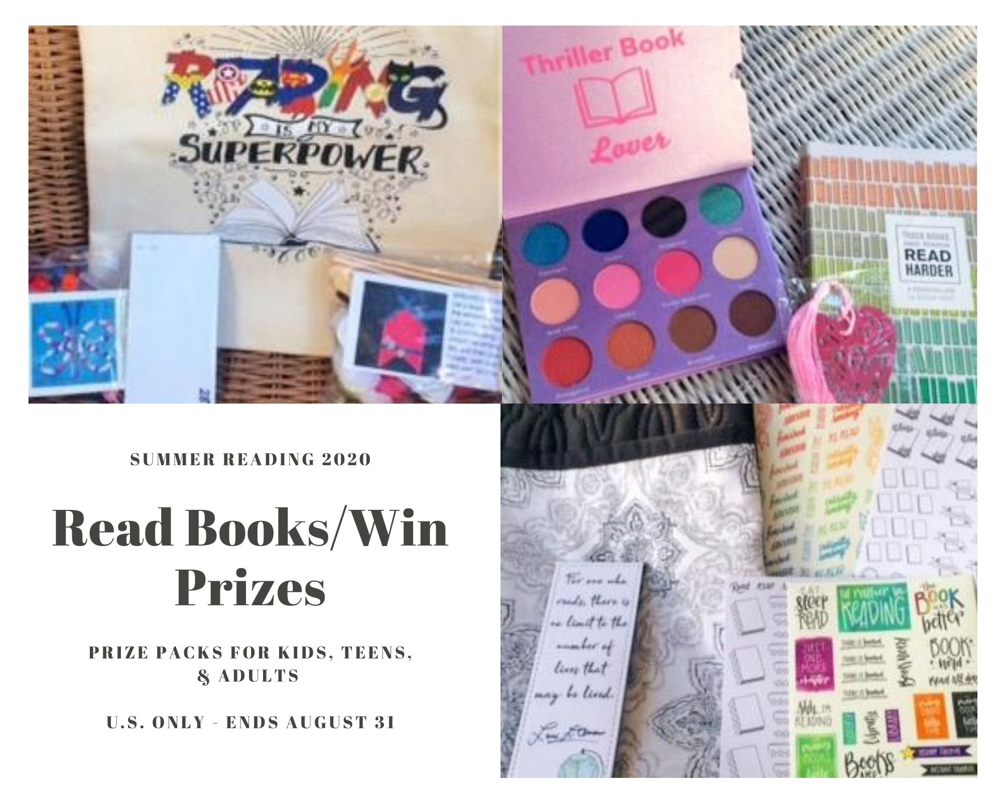 U.S. Only – 3 Prize Packs (ends 8/31)